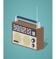 Low poly retro radio set vector image