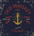 Whiskey Label Design T-shirt Print vector image