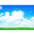 Cloudy sky vector image