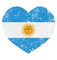 Argentina retro heart shaped flag vector image