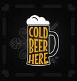 beer mug vintage design background vector image