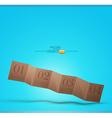 Cardboard banner vector image