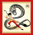 Chinese Snake New Year vector image