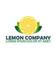 lemon logo company citrus logo vector image
