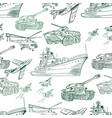military transport pattern vector image