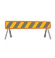 road barrier cartoon vector image