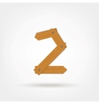 Wooden Boards Number Two vector image