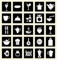 icons set kitchen-related utensils Icons vector image