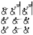 disable handicap sport icons archery basketball vector image
