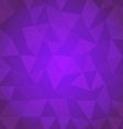 Abstract triangle with violet background vector image