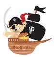 Pirate Teddy bear vector image vector image