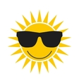 Sun with glasses icon vector image
