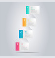 abstract modern banner infographic vertical vector image