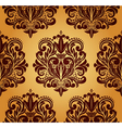 Beautiful seamless damask pattern vector image