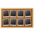Blank photo frames vector image