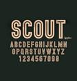 decorative bold font design alphabet typeface vector image