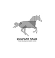 Running Horse Line Silhouette Logo Icon vector image