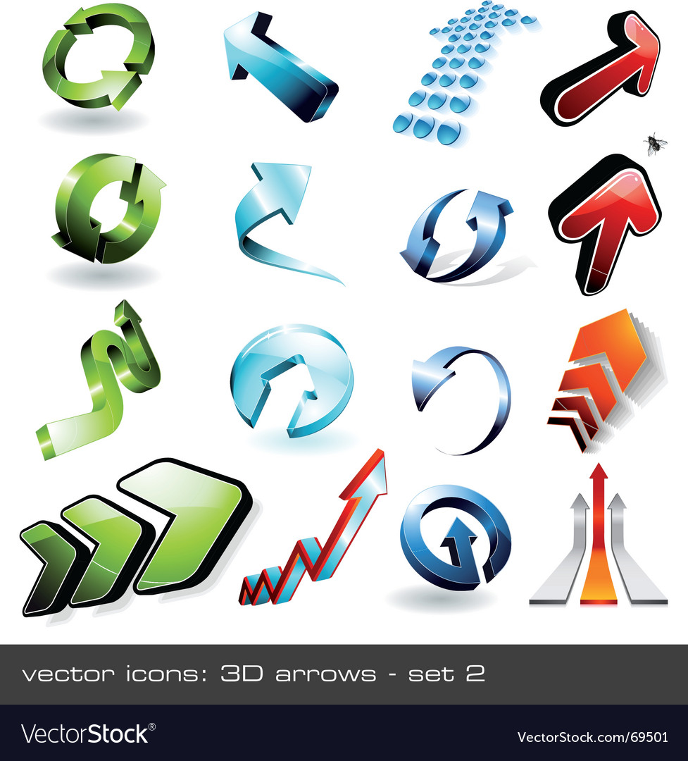 3d arrows vector