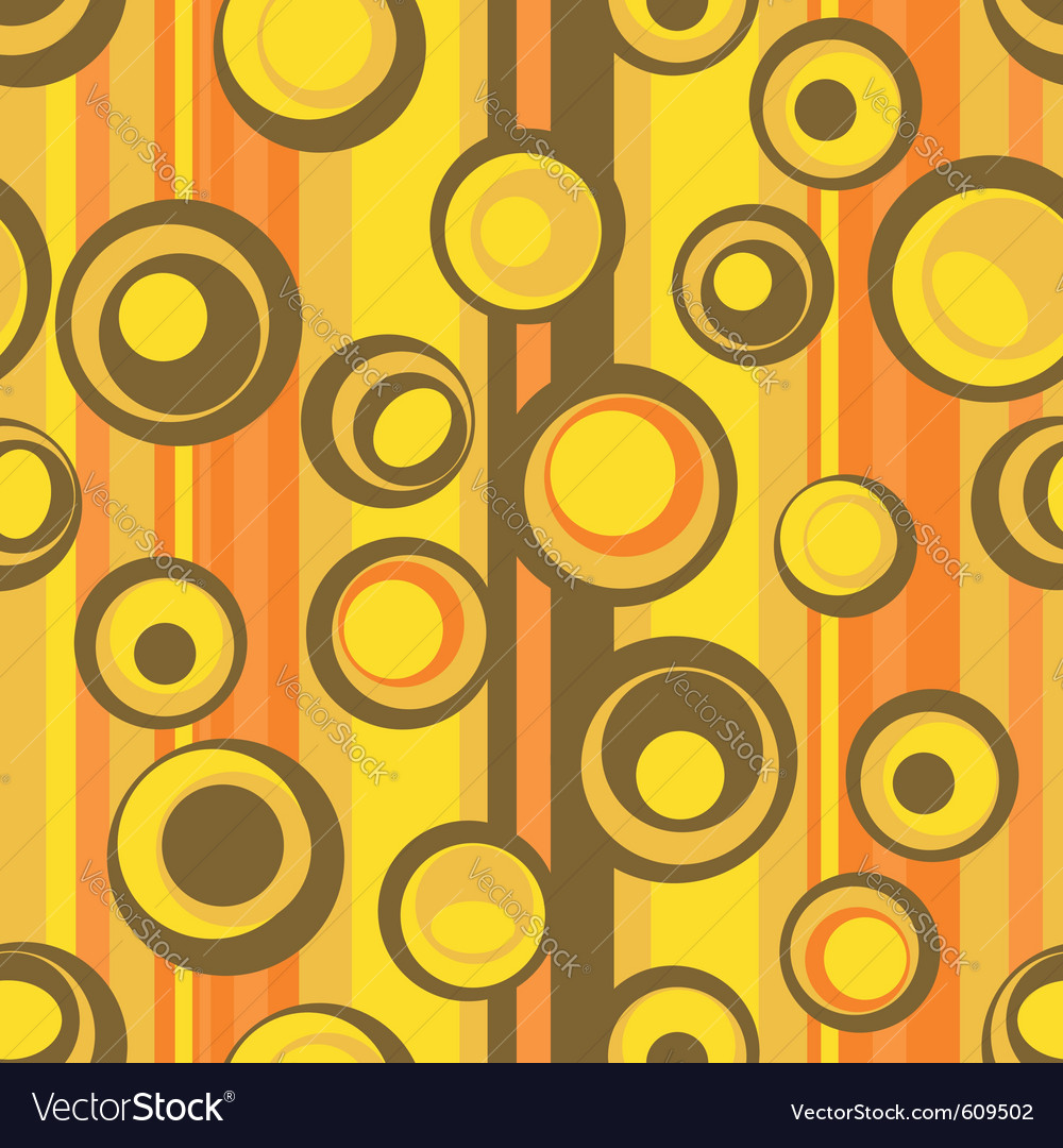 Seamless abstract circle pattern vector