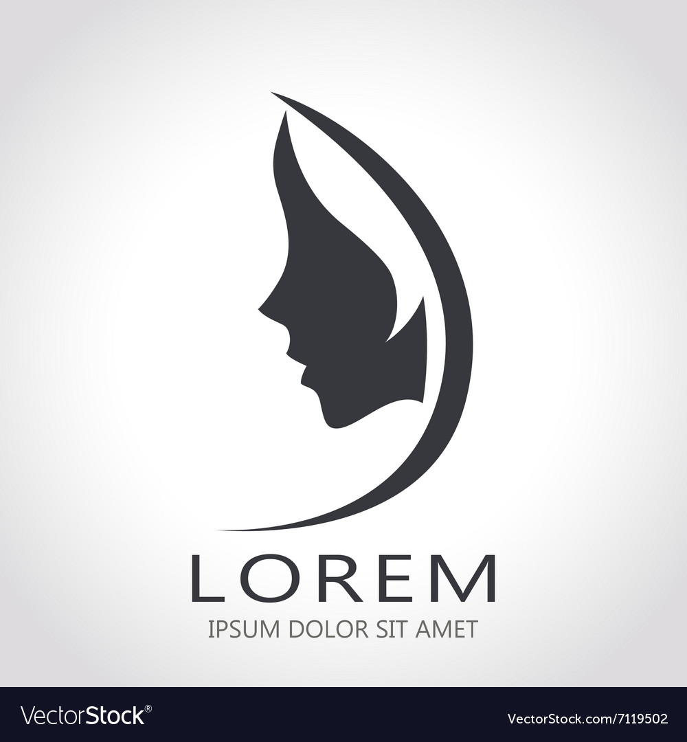 Template abstract logo for woman salons and vector