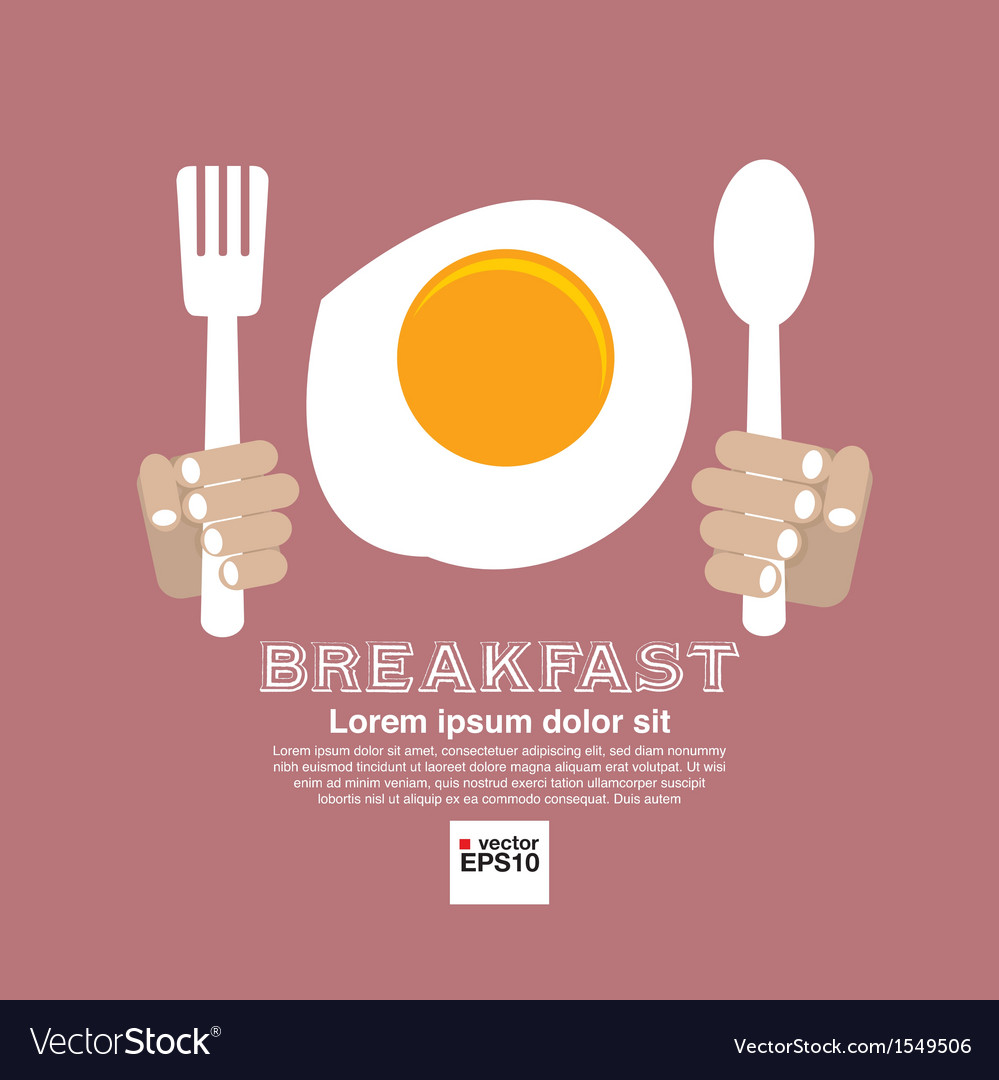 Breakfast concept eps10 vector