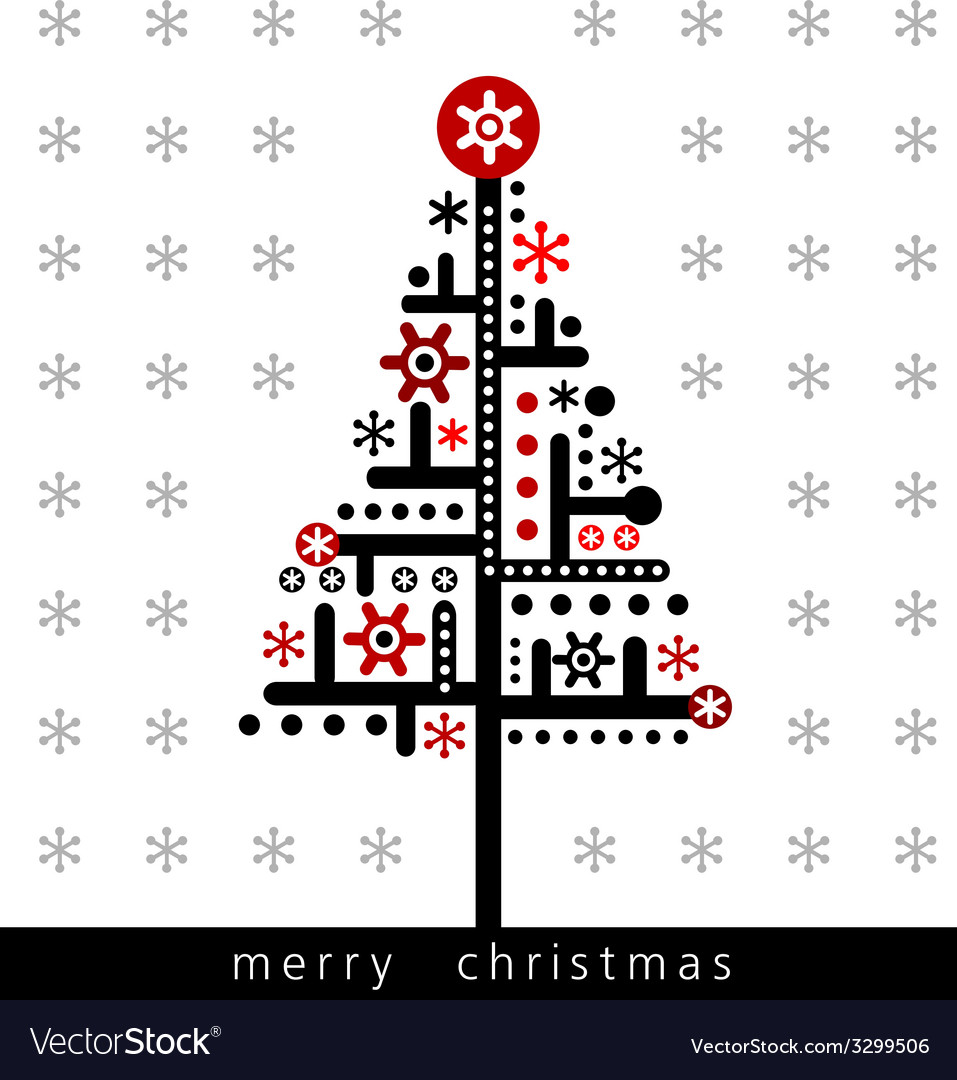 Modern christmas greeting card vector
