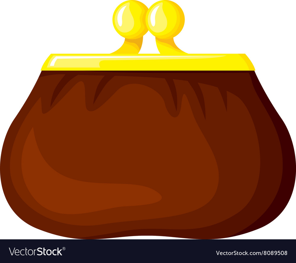 Cartoon purse vector