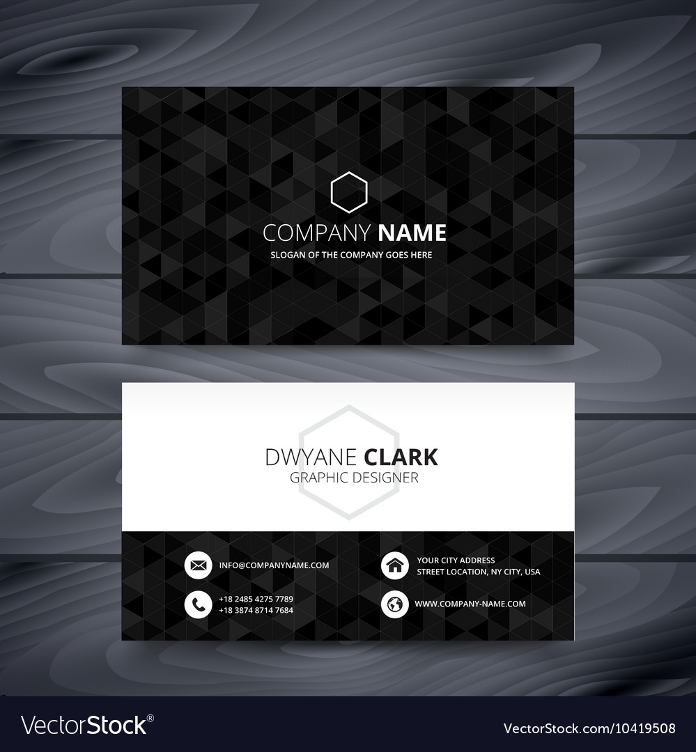 Dark modern business card design template vector