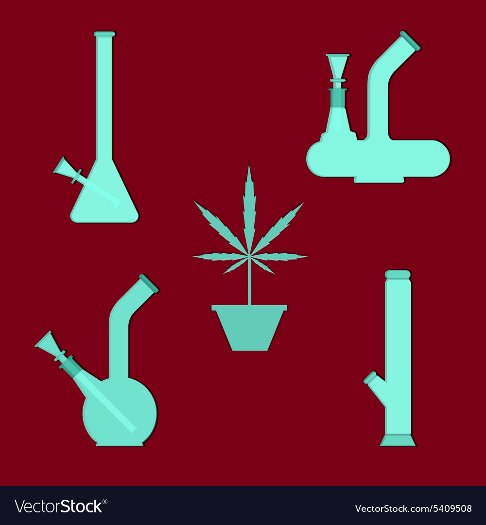 Marijuana equipment vector