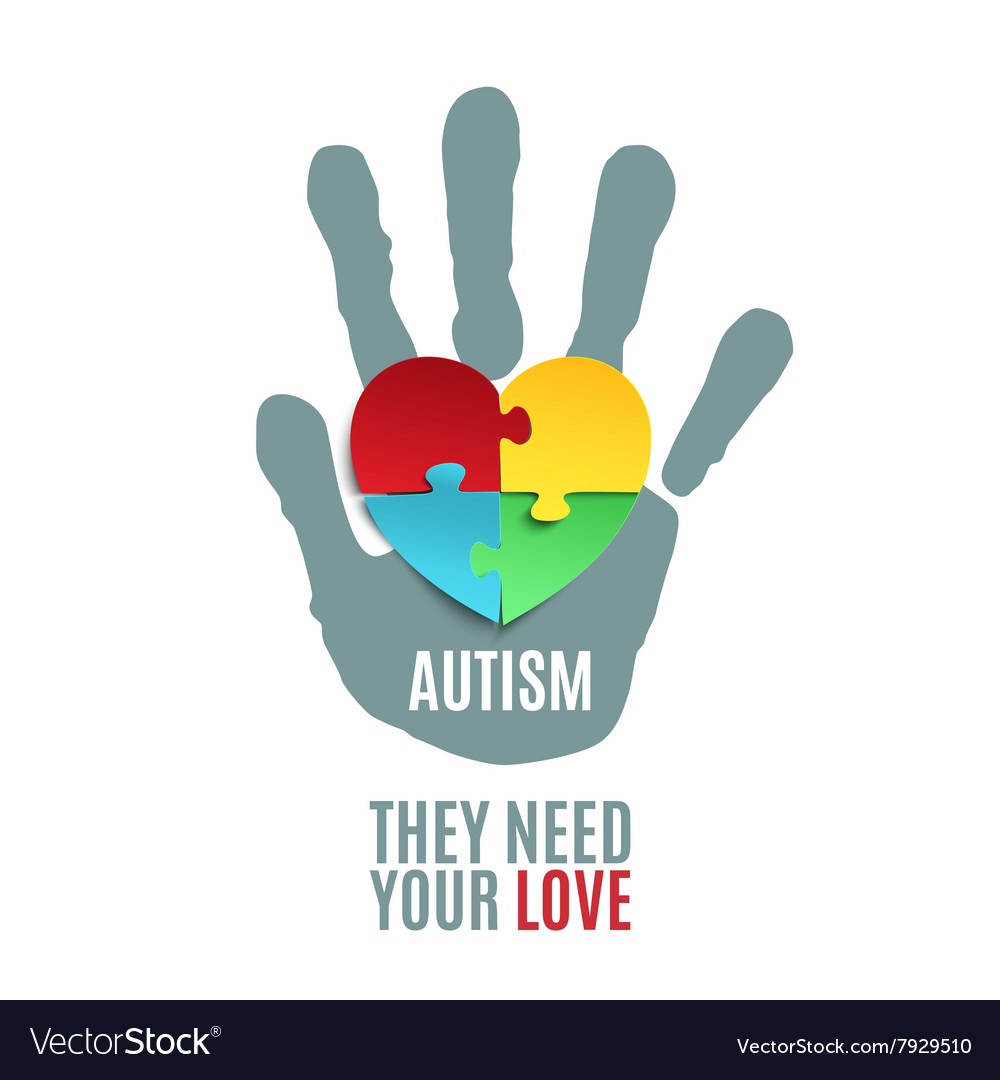 Autism awareness poster template vector