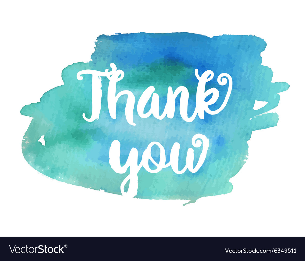 Thank you inspirational motivational quote vector