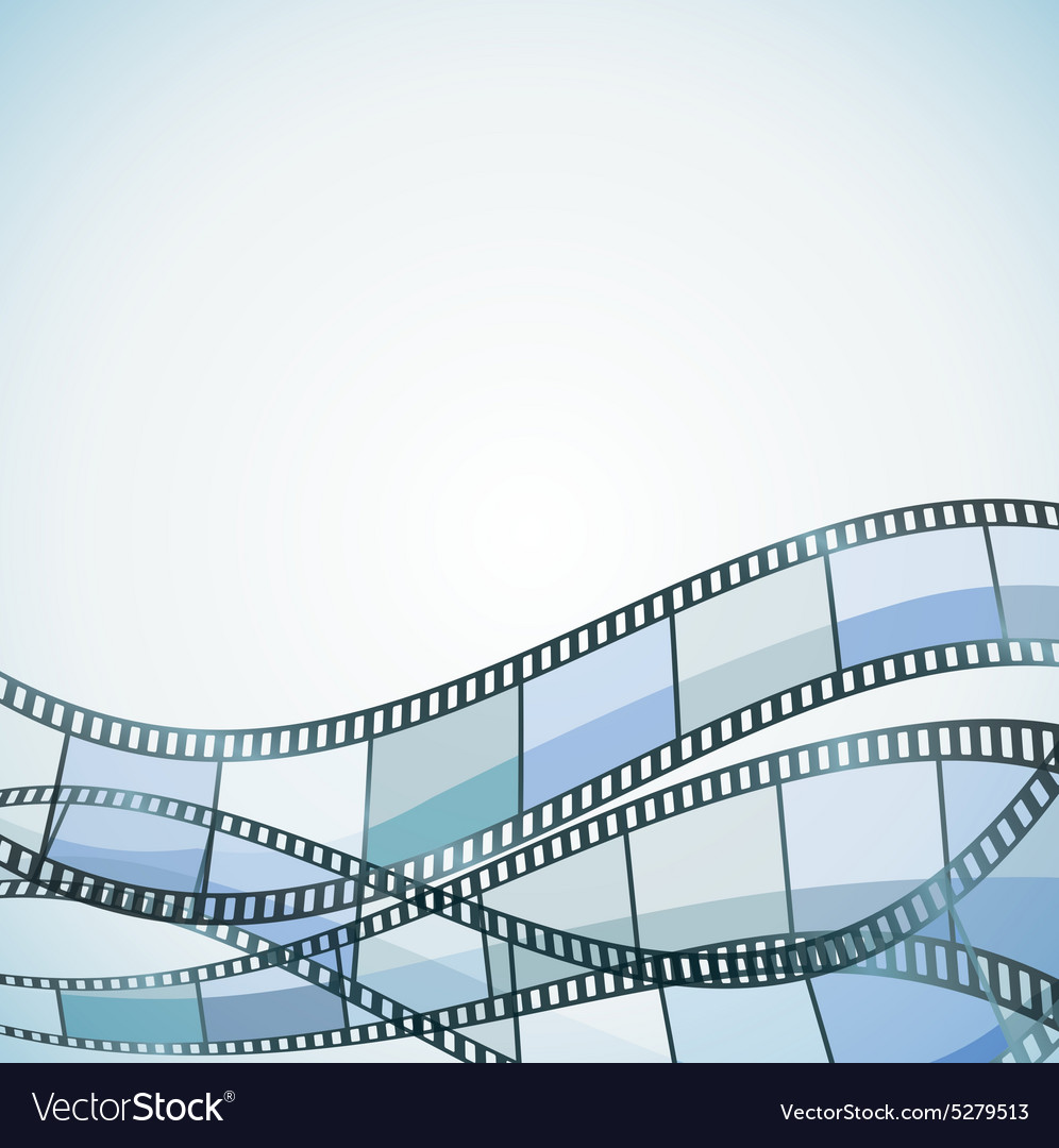 Film background blue retro vector