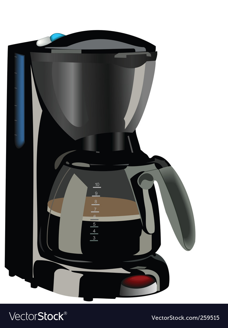Realistic of coffee maker vector