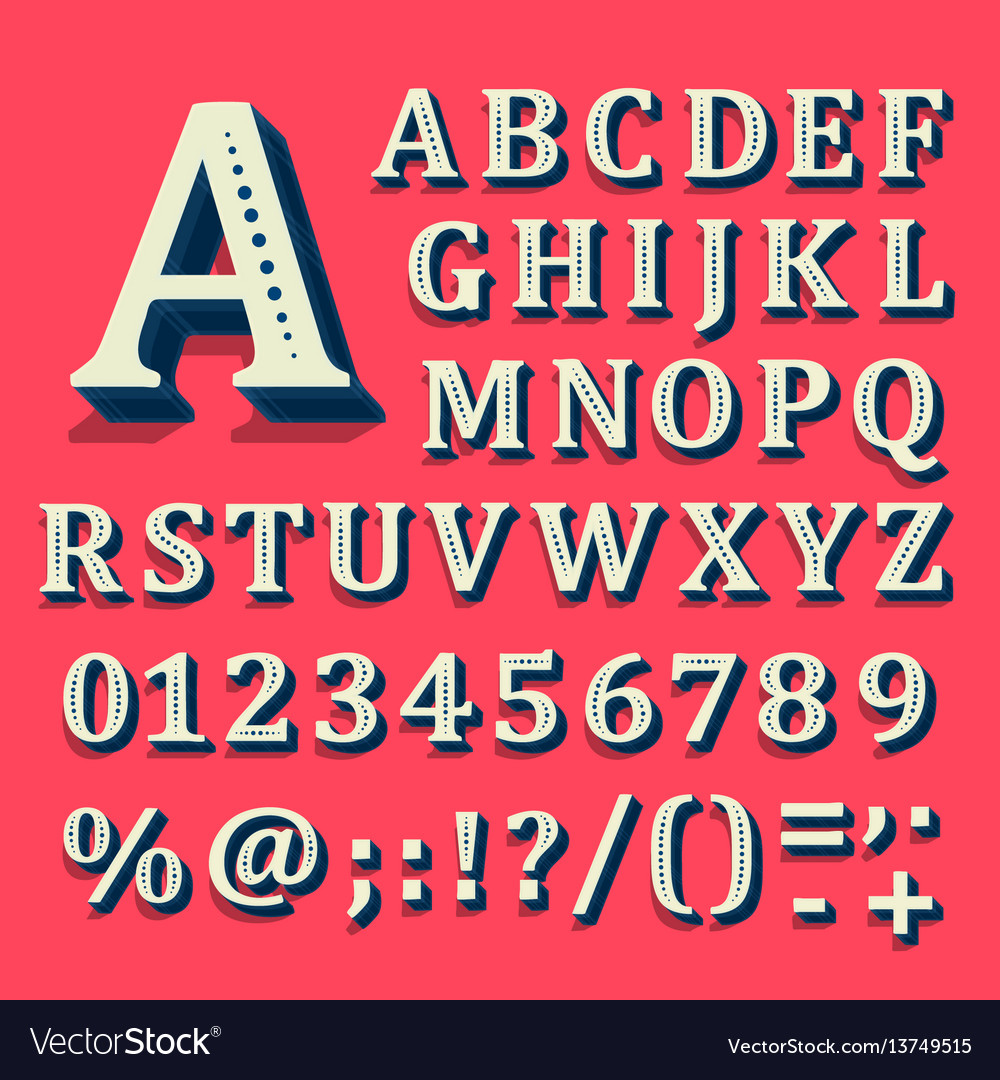 Red and white font on black background the vector