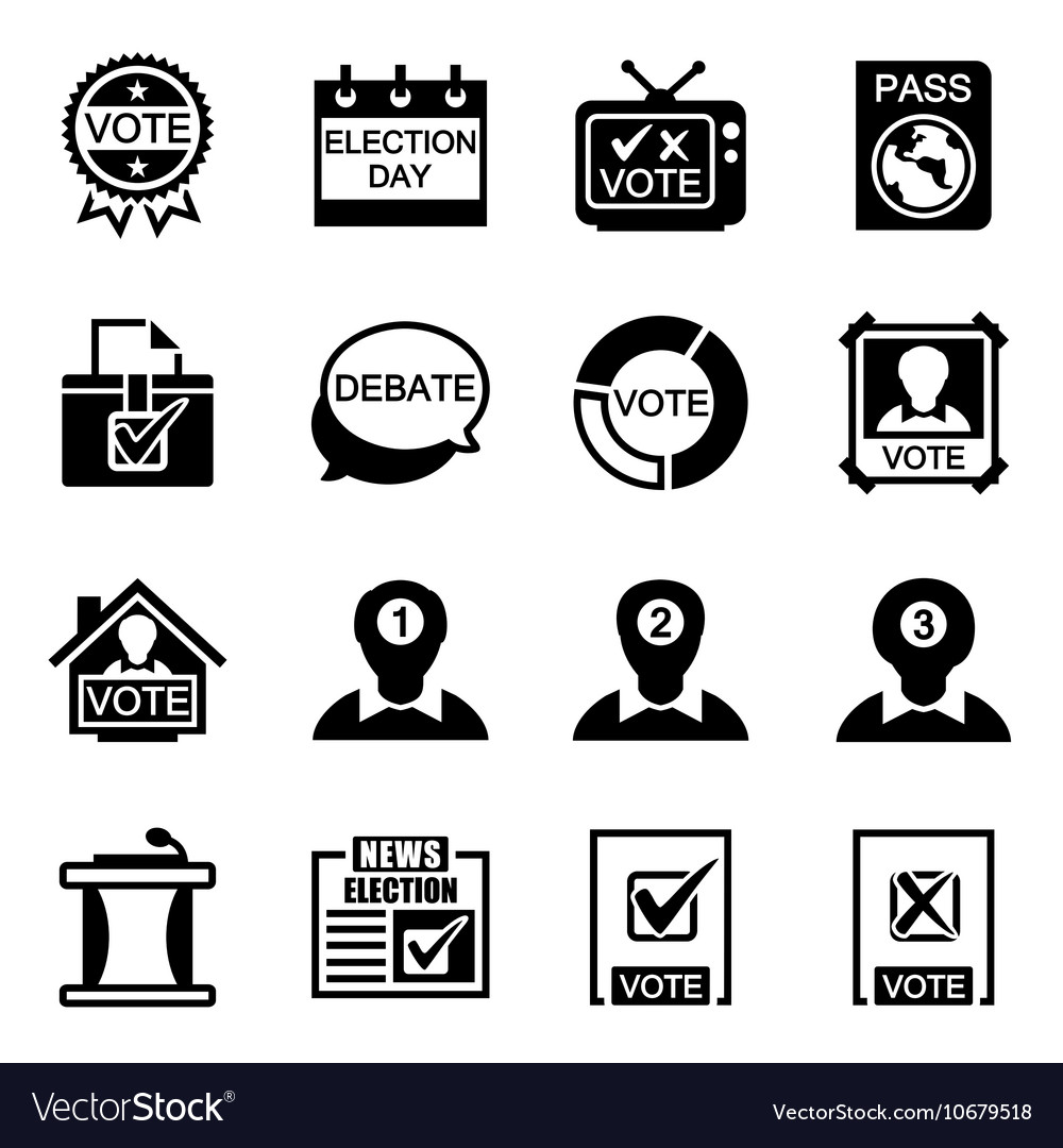 Election icon set vector