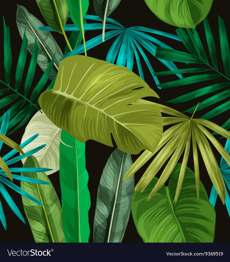 Tropical leaf pattern vector