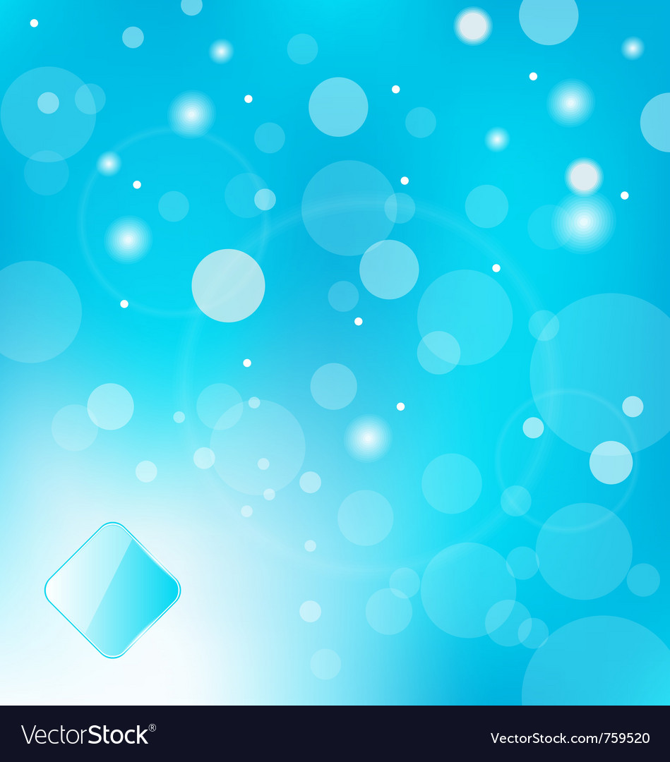 Abstract blue light with label background  vector