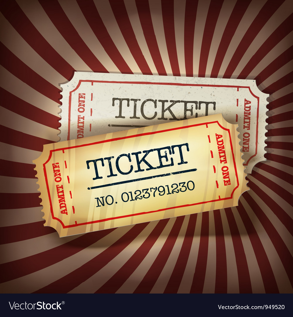 Golden and plain tickets vector