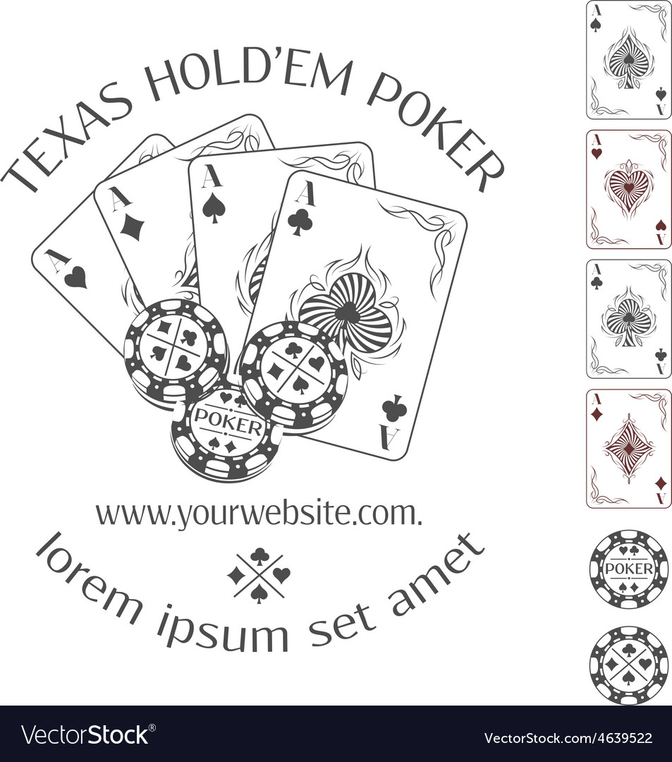 Poker emblem with place for your text vector