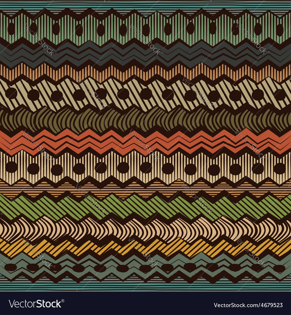 Colorful ethnic seamless pattern vector