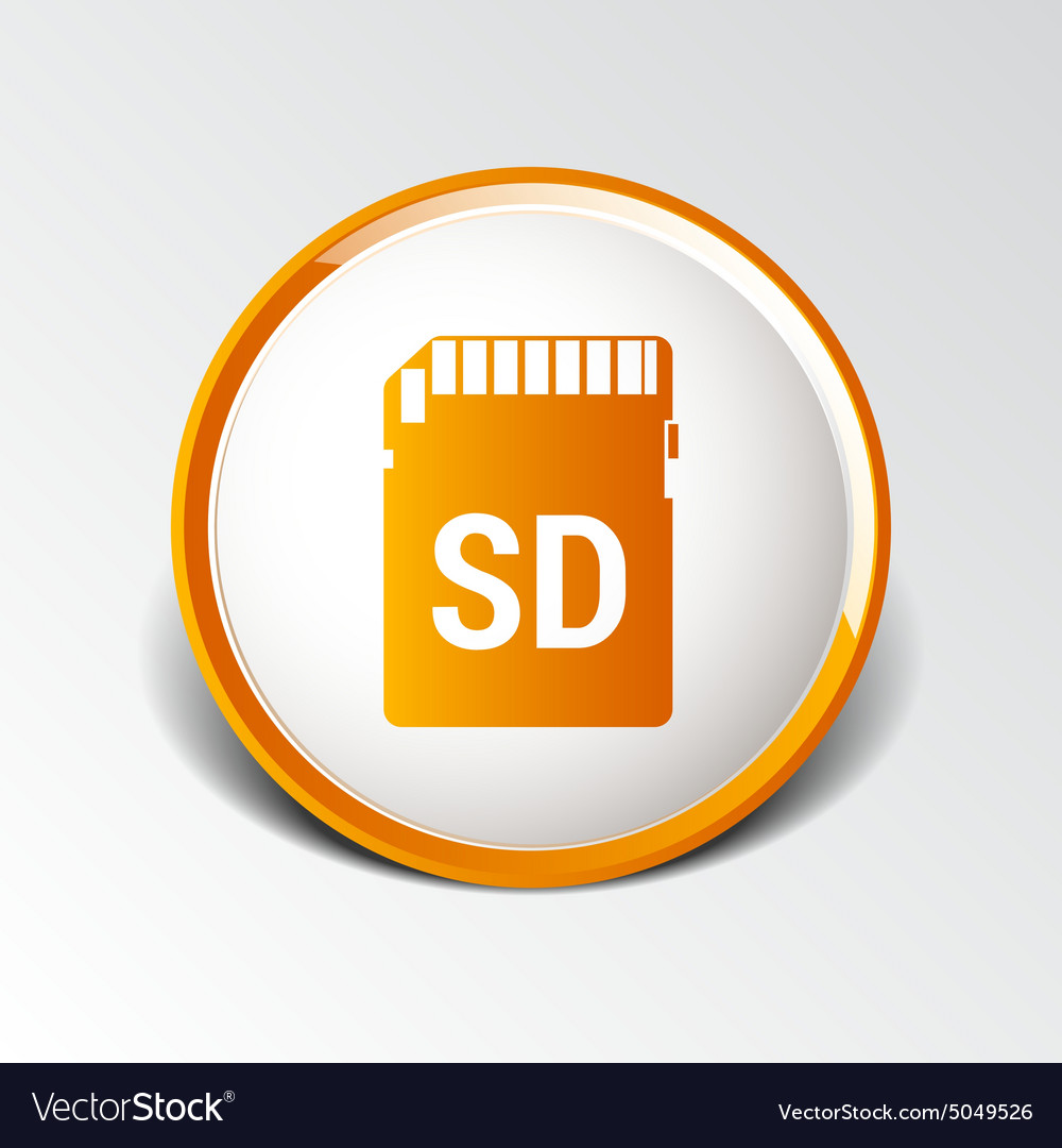 Icon sd card black silhouette symbol vector