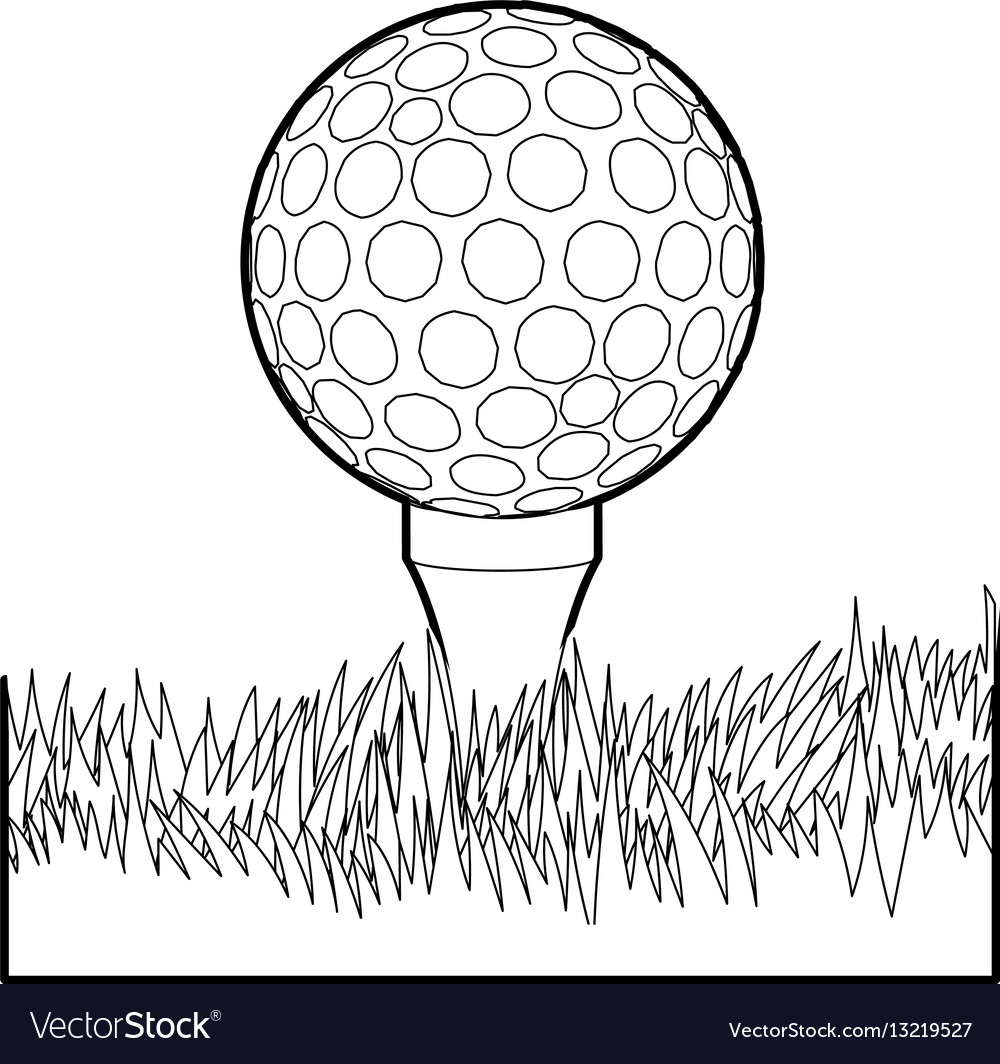 Ball for golf icon outline style vector