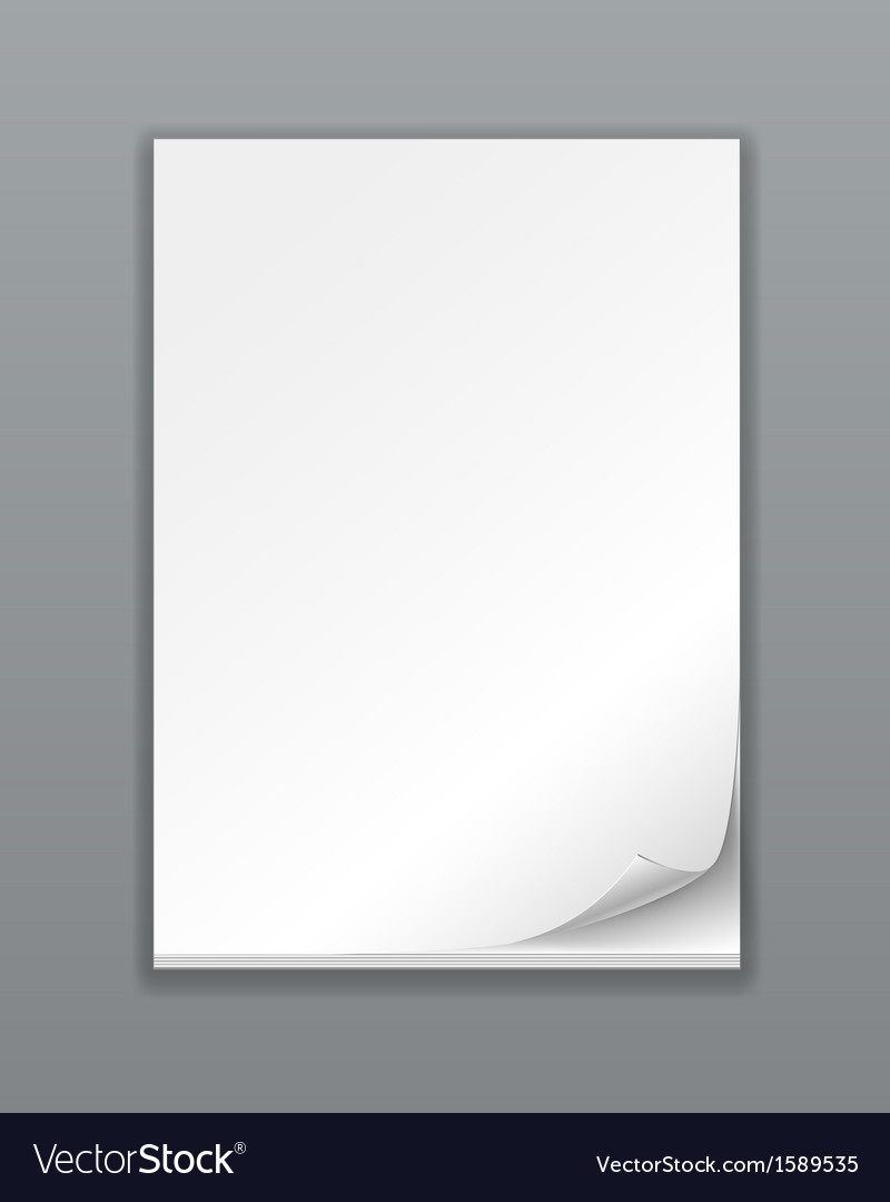 Empty paper stack vector