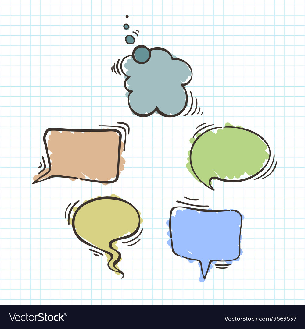 Set of balloons for text text bubbles vector