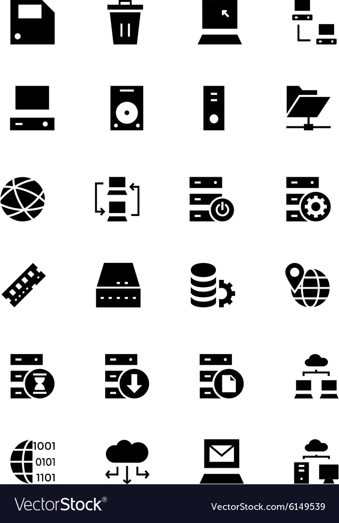 Database and server icons 2 vector