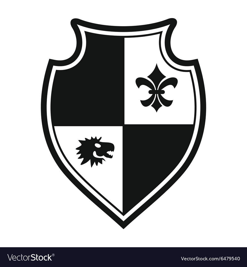 Best shield simple sign vector