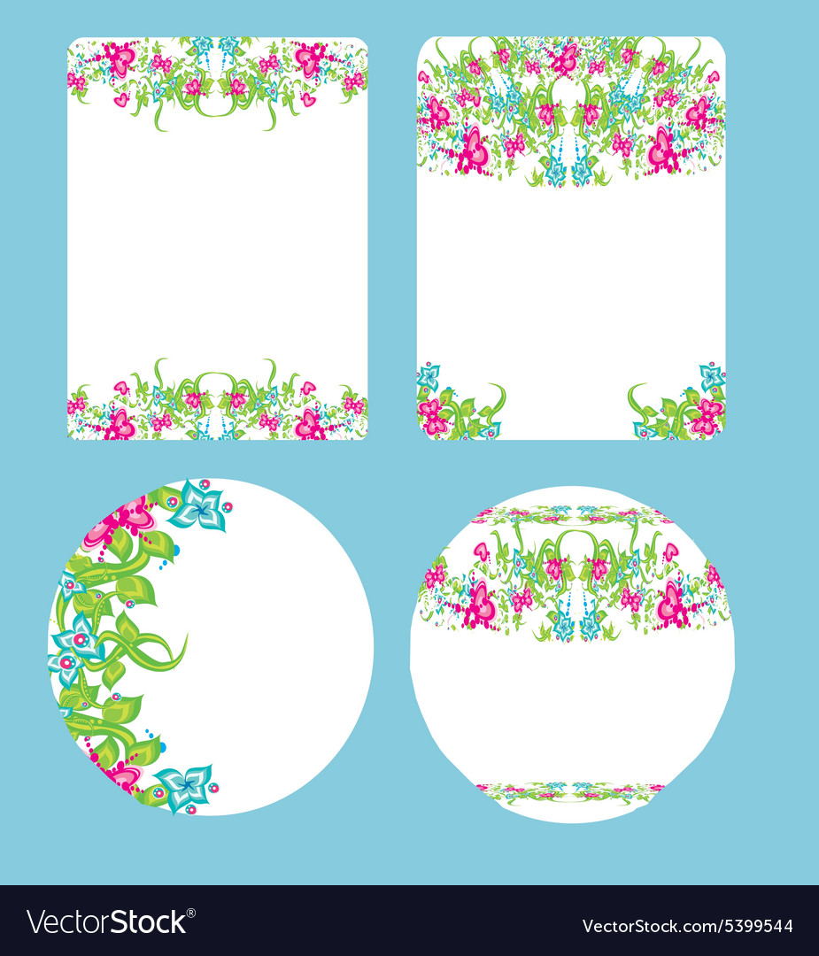 Beautiful floral wedding design vector