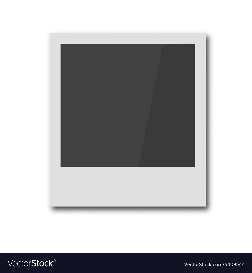Polaroid retro photo frame vector