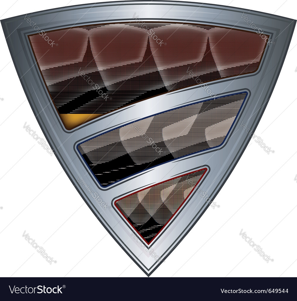 Steel shield with flag colombia vector