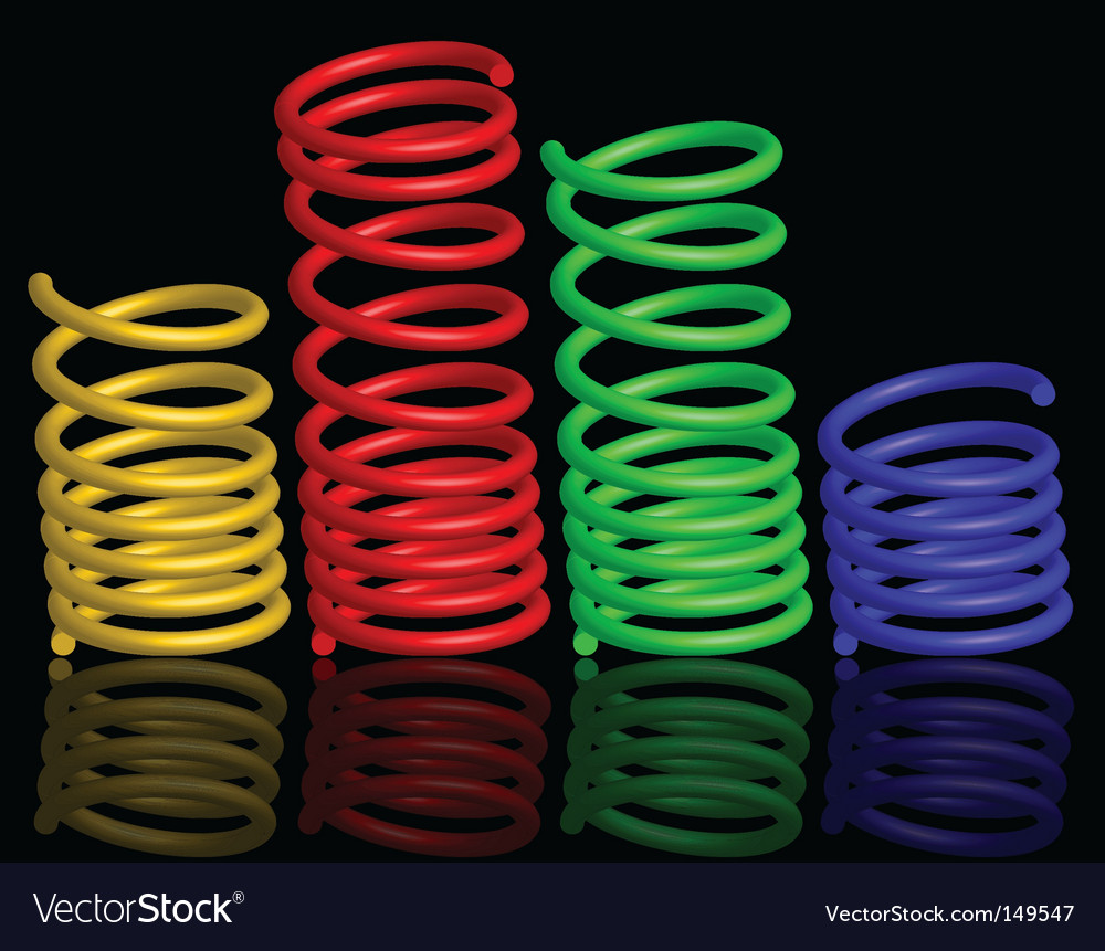 Colour springs vector